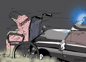 Козел на коляске